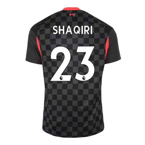 Maillot Football Liverpool NO.23 Shaqiri Third 2020-21 Noir