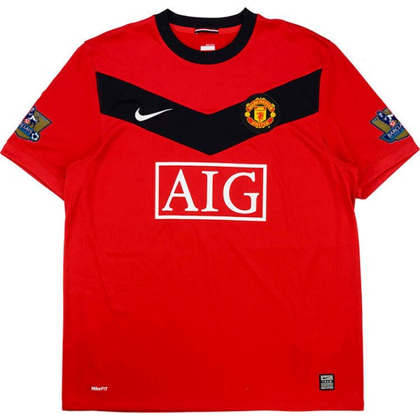 Thailande Maillot Football Manchester United Domicile Retro 2009 2010 Rouge