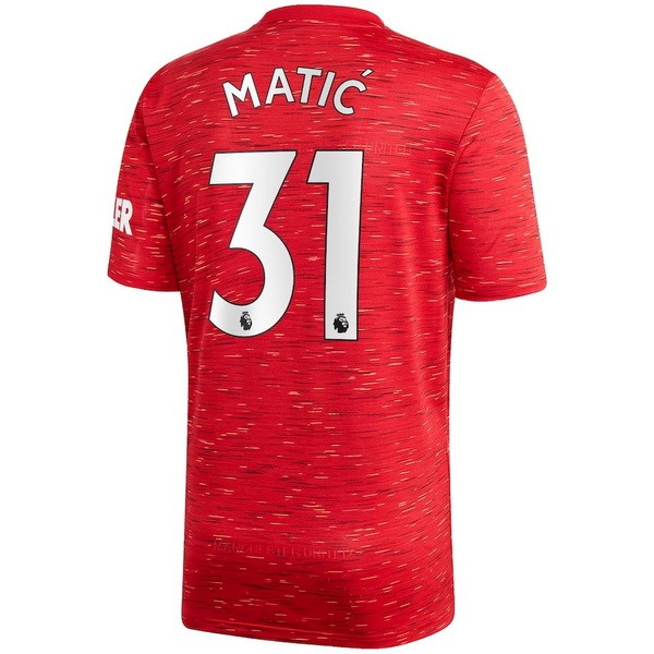 Maillot Football Manchester United NO.31 Matic Domicile 2020-21 Rouge
