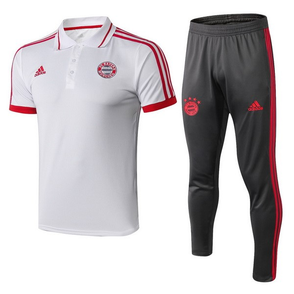 Polo Ensemble Complet Bayern 2018-19 Blanc Rouge