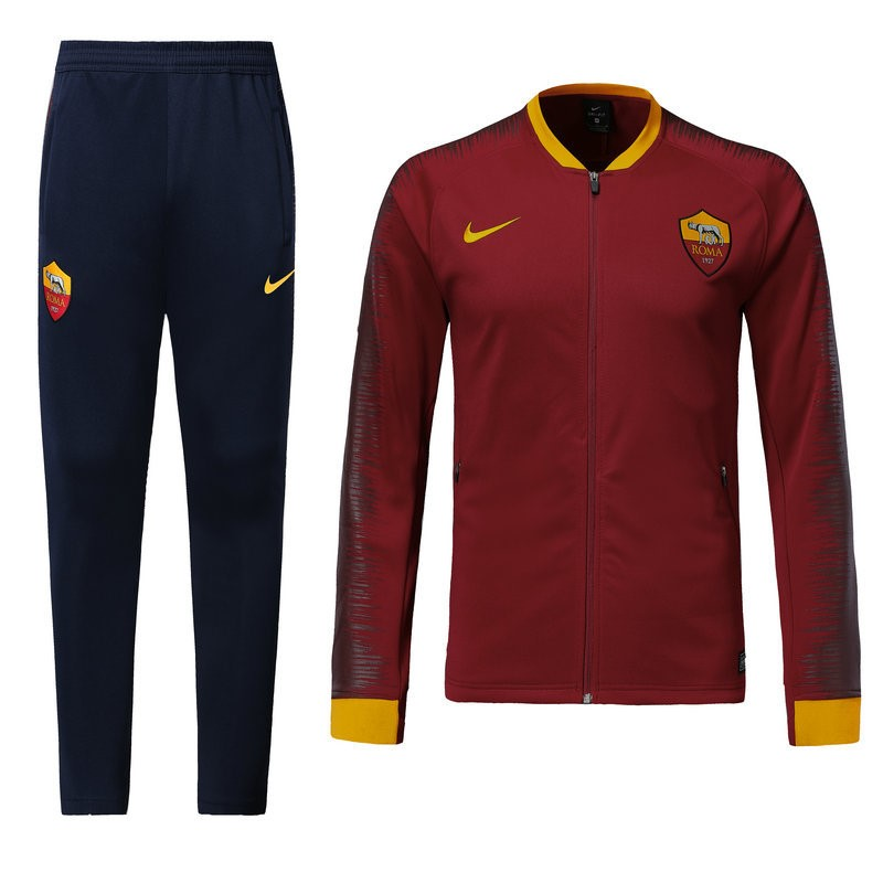 Survetement Football AS Roma 2018-19 Rouge Marine