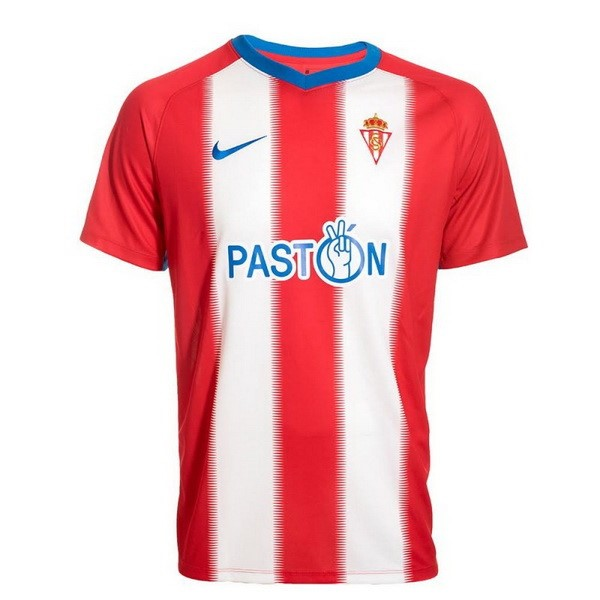 Maillot Football Sporting De Gijón Domicile 2018-19 Rouge