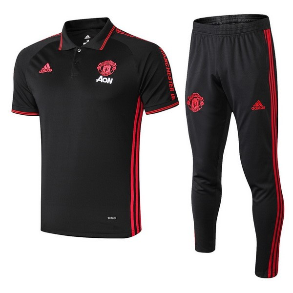Polo Ensemble Complet Manchester United 2019-20 Noir Rouge