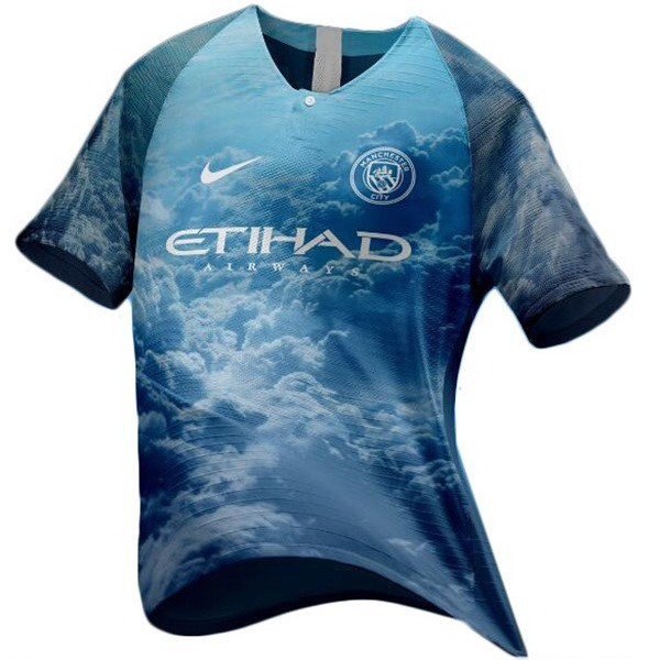 EA Sport Maillot Football Manchester City 2018-19 Bleu