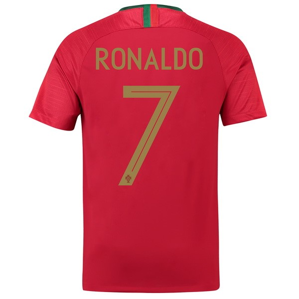 Thailande Maillot Football Portugal Domicile Ronaldo 2018 Rouge