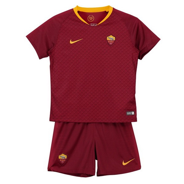Maillot Football AS Roma Domicile Enfant 2018-19 Rouge