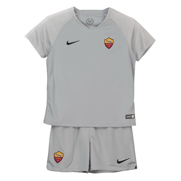 Maillot Football AS Roma Exterieur Enfant 2018-19 Gris
