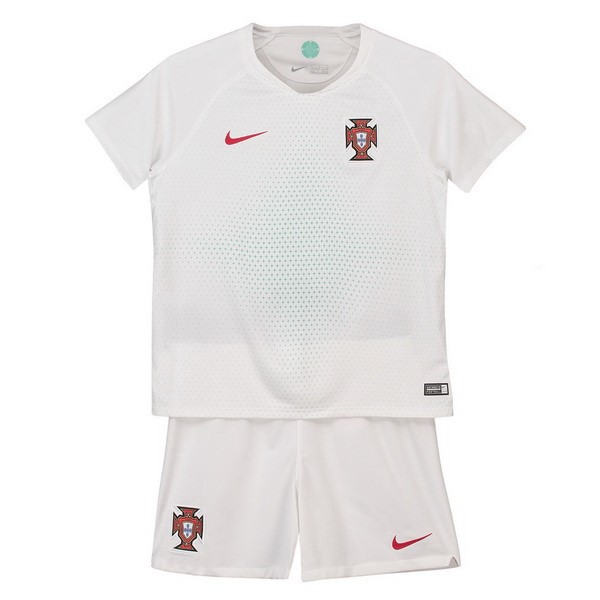 Maillot Football Portugal Exterieur Enfant 2018 Blanc