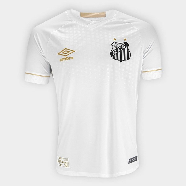 Maillot Football Santos Domicile 2018-19 Blanc