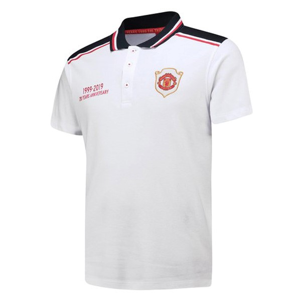 Polo Manchester United 20th Blanc