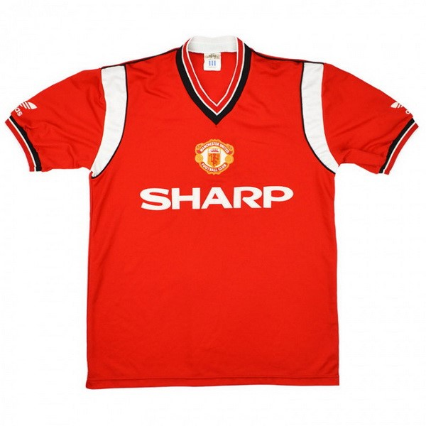 Maillot Football Manchester United Domicile Retro 1984 1986 Rouge
