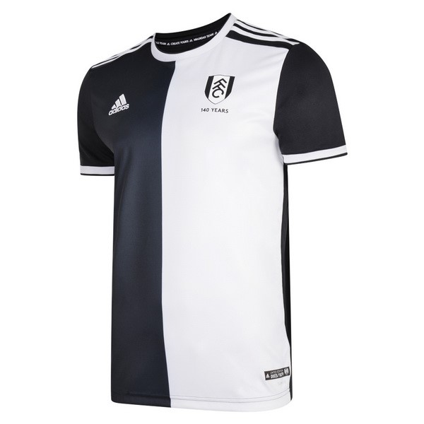Maillot Football Fulham 140th Noir Blanc