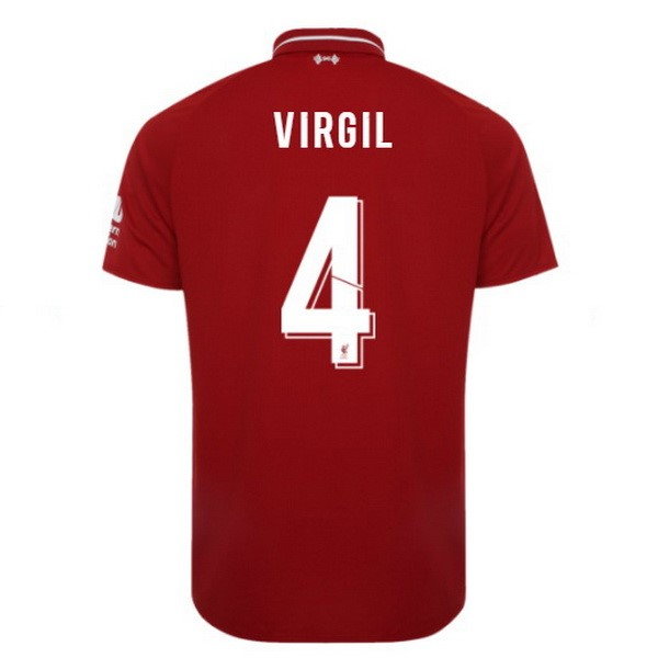 Maillot Football Liverpool Domicile Virgil 2018-19 Rouge