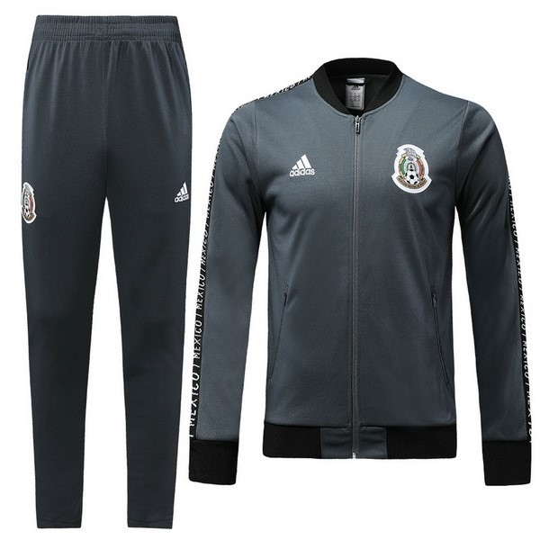 Survetement Football Mexique 2018 Gris Noir