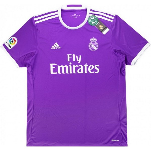 Maillot Football Real Madrid Exterieur Retro 2016 2017 Purpura