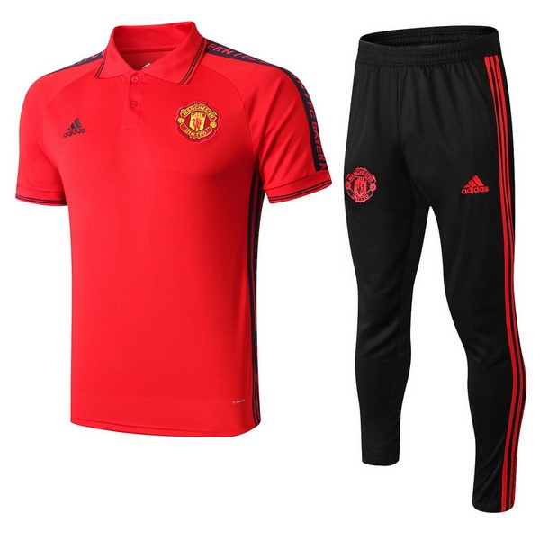 Polo Ensemble Complet Manchester United 2019-20 Rouge Noir