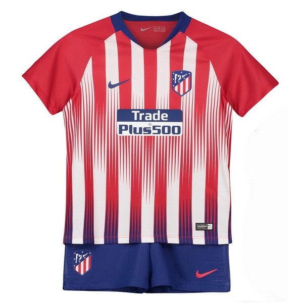 Maillot Football Atlético Madrid Domicile Enfant 2018-19 Marine Rouge