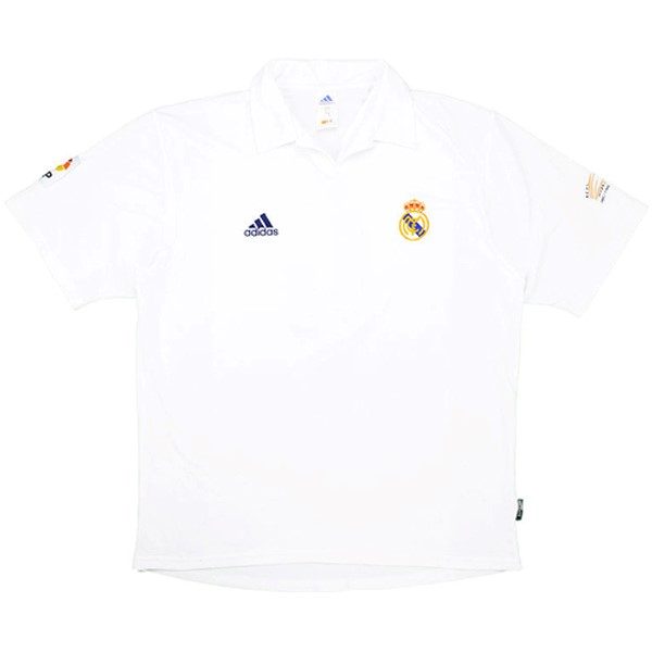 Maillot Football Real Madrid Domicile Retro 2001 2002 Blanc