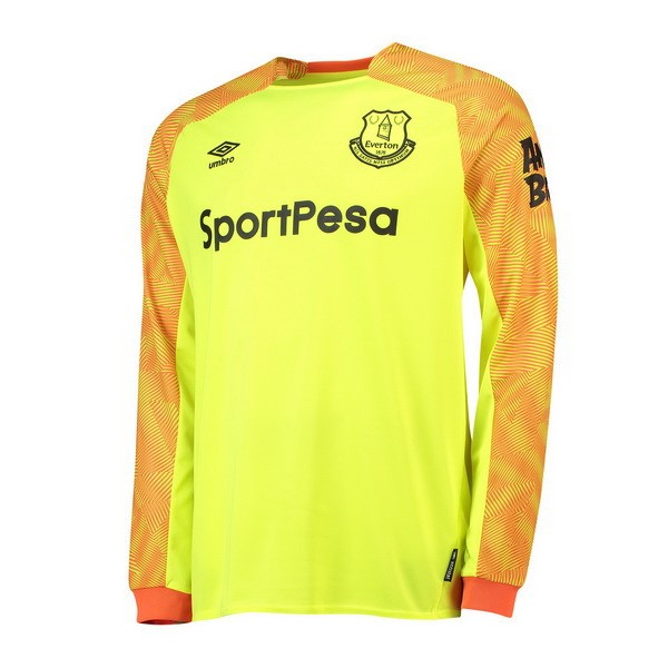 Maillot Football Everton Exterieur ML Gardien 2018-19 Jaune