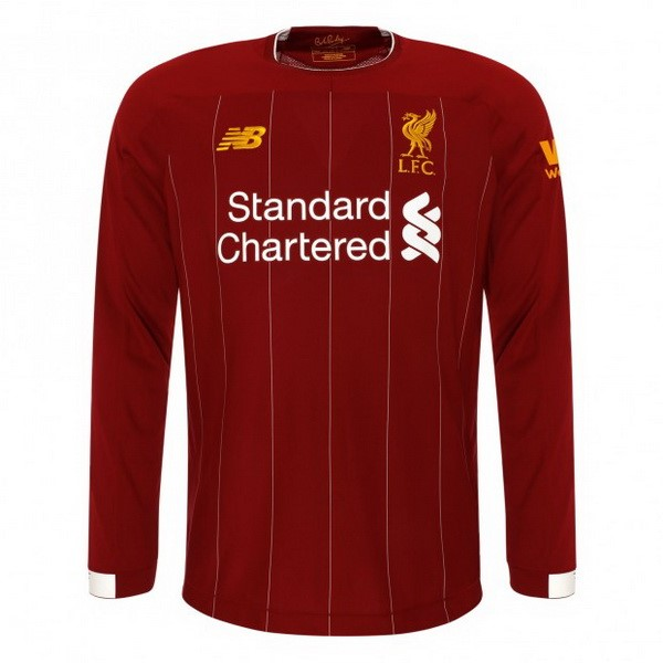 Maillot Football Liverpool Domicile ML 2019-20 Rouge