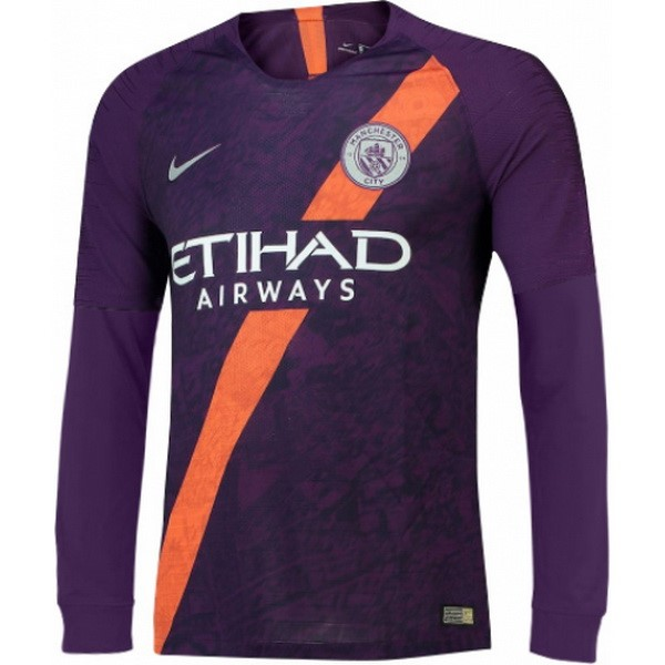Maillot Football Manchester City Third ML 2018-19 Purpura