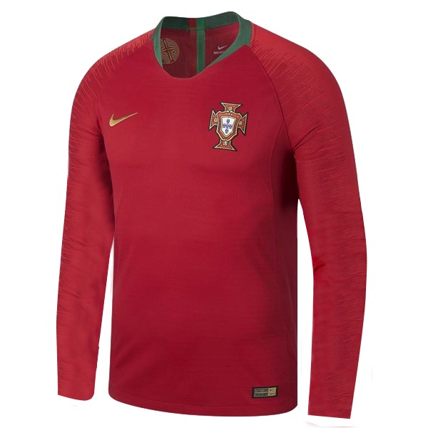 Maillot Football Portugal Domicile ML 2018 Rouge