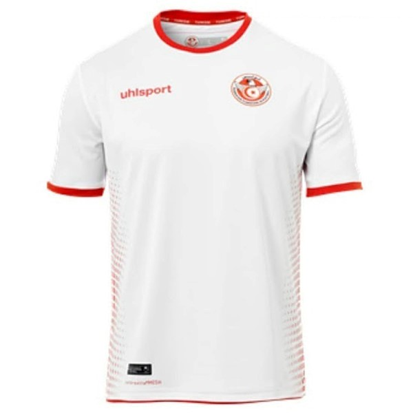 Maillot Football Domicile Tunisia 2018 Blanc