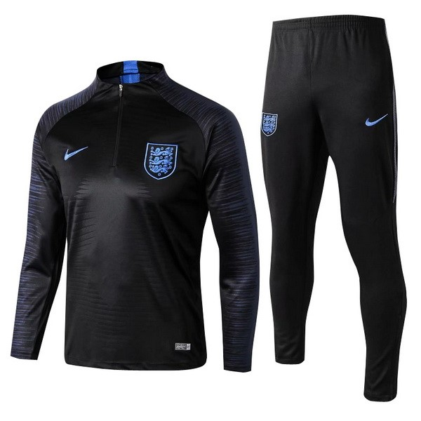 Survetement Football Angleterre 2018 Noir Bleu