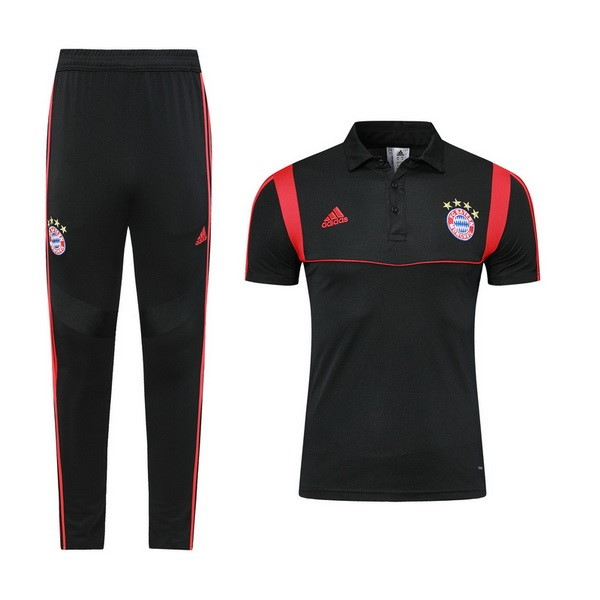 Polo Ensemble Complet Bayern 2019-20 Noir Rouge